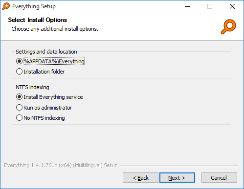 Everything Installer Install Options 1
